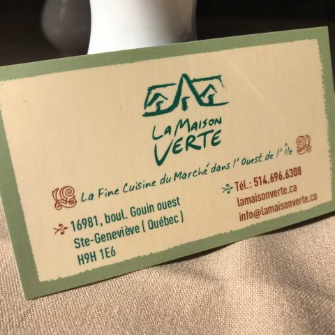 La Maison Verte | Business Card